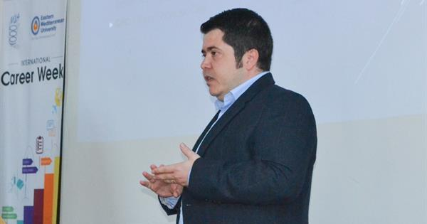 EMU Graduate and Qatar Airways Director Ziya Ediz Gürsan Delivered a Conference in EMU